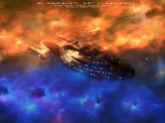 Star Trek Voyager a moment of silence 700x525 Star Trek Voyager   a moment of silence Wallpaper star trek