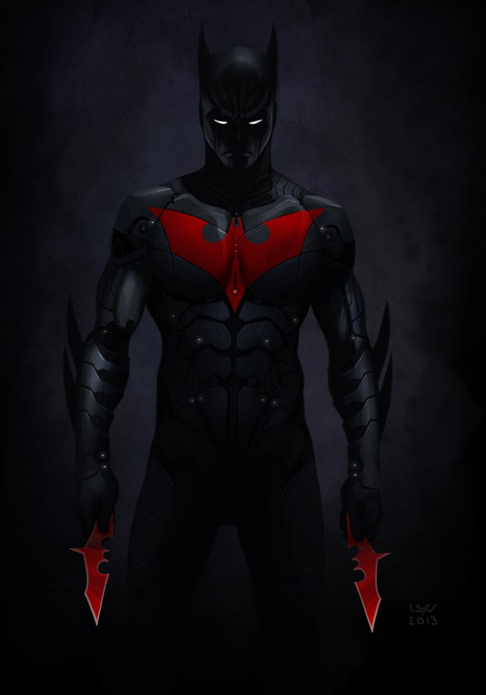 batman beyond with batarangs 700x1000 batman beyond with batarangs