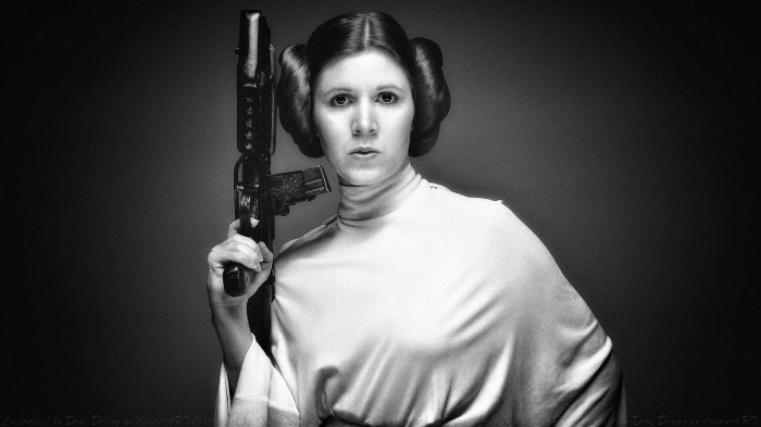 carrie fisher princess leia iii by dave daring 700x393 carrie fisher princess leia iii by dave daring