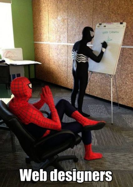 web designers web designers spider man Humor Computers Comic Books