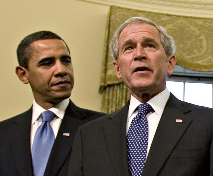 George W. Bush, Barack Obama