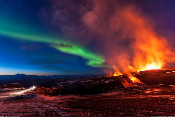 volcano and the northern lights in iceland.jpg