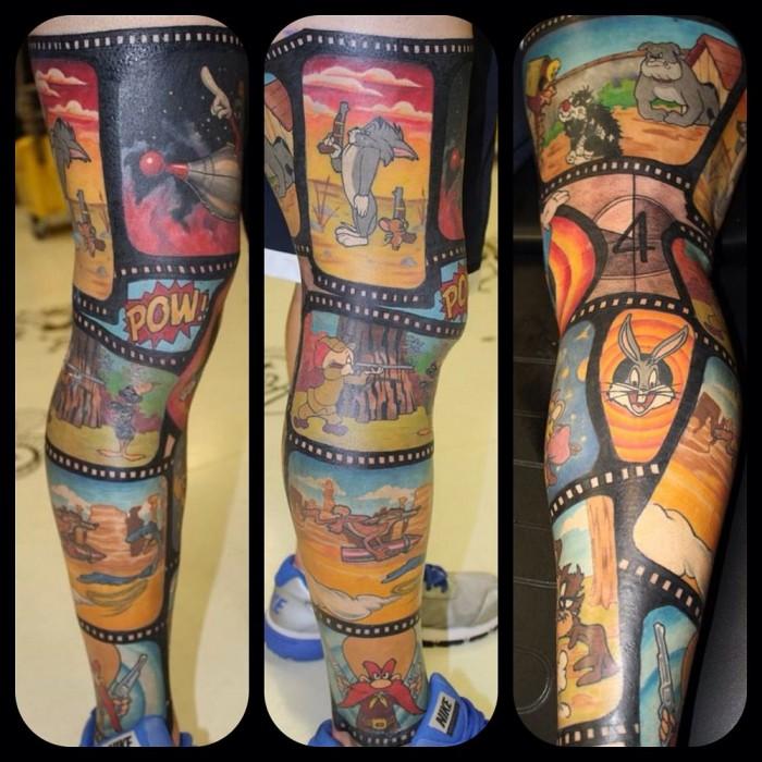Looney Toons - Leg Tattoo.jpg