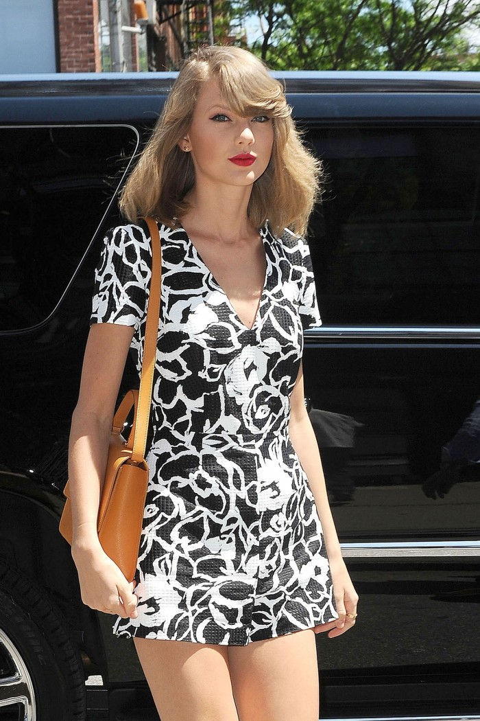 Singer Taylor Swift spotted in Soho