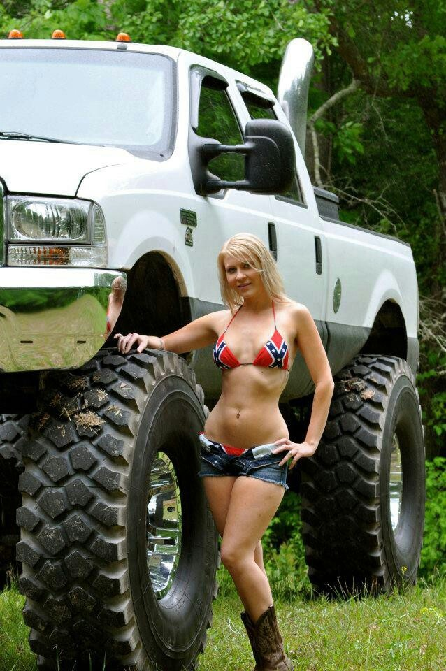 Redneck whore with whore truck.jpg