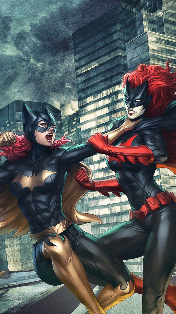 Batgirl vs Bat Woman 700x1244 Batgirl vs Bat Woman