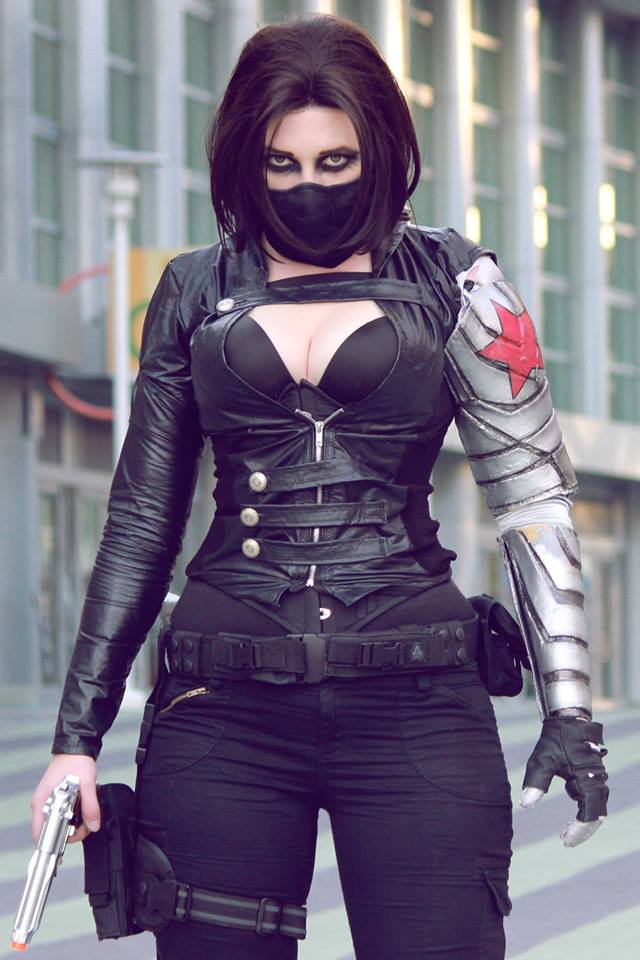 Callie Cosplay as The Winter Soldier Callie Cosplay as The Winter Soldier