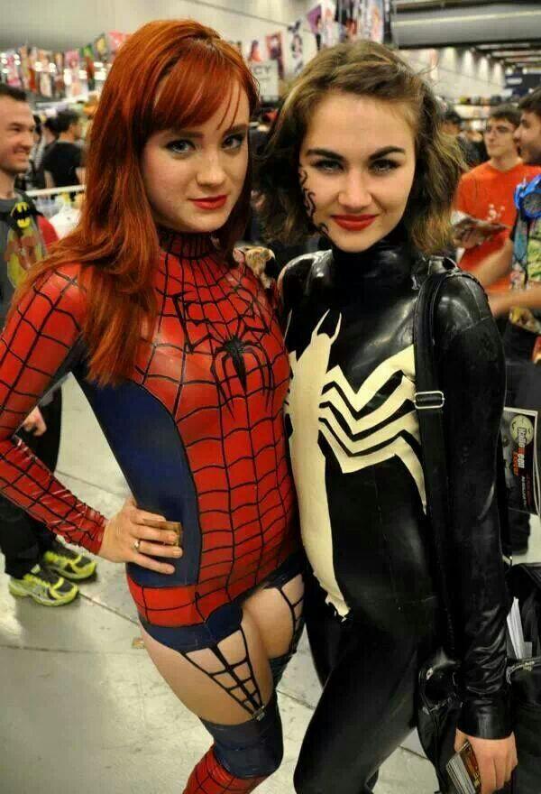 Spider girl and Lady Venom Spider girl and Lady Venom