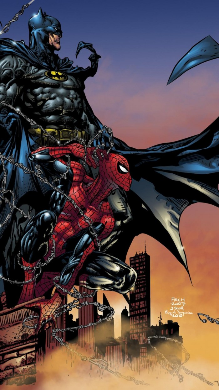Spider man and Batman Sitting in a Tree 700x1244 Spider man and Batman Sitting in a Tree