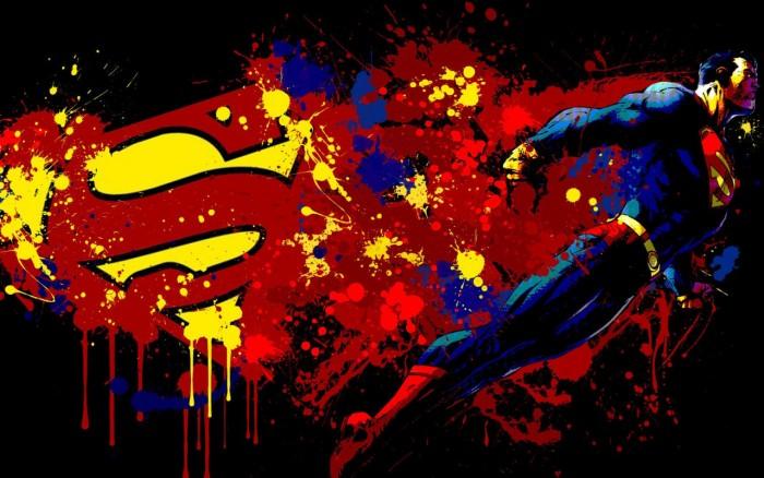 Superman Splatter 700x438 Superman Splatter