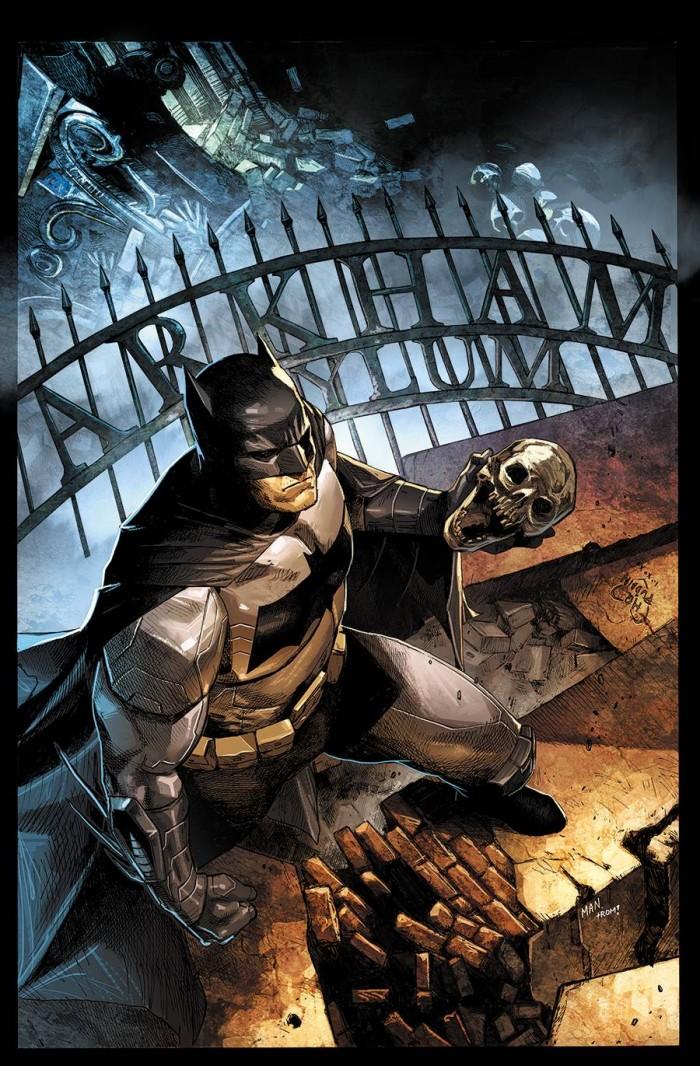 Batman holding a skull 700x1066 Batman holding a skull
