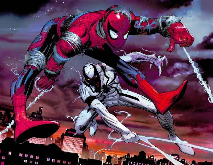 Anti Venom and Spider Man 700x541 Anti Venom and Spider Man