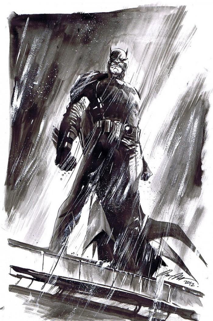 Batman in the rain 700x1053 Batman in the rain