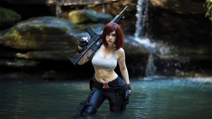 Eve Beauregard as Black Widow 700x394 Eve Beauregard as Black Widow