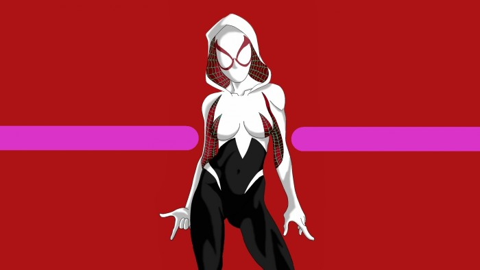 Spider Gwen with mask on 700x394 Spider Gwen – with mask on