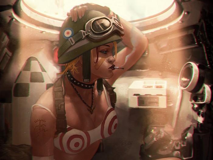Tank Girl in her tank 700x524 Tank Girl in her tank