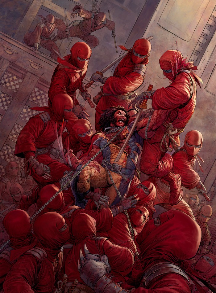 Wolverine Vs Ninjas 700x946 Wolverine Vs Ninjas