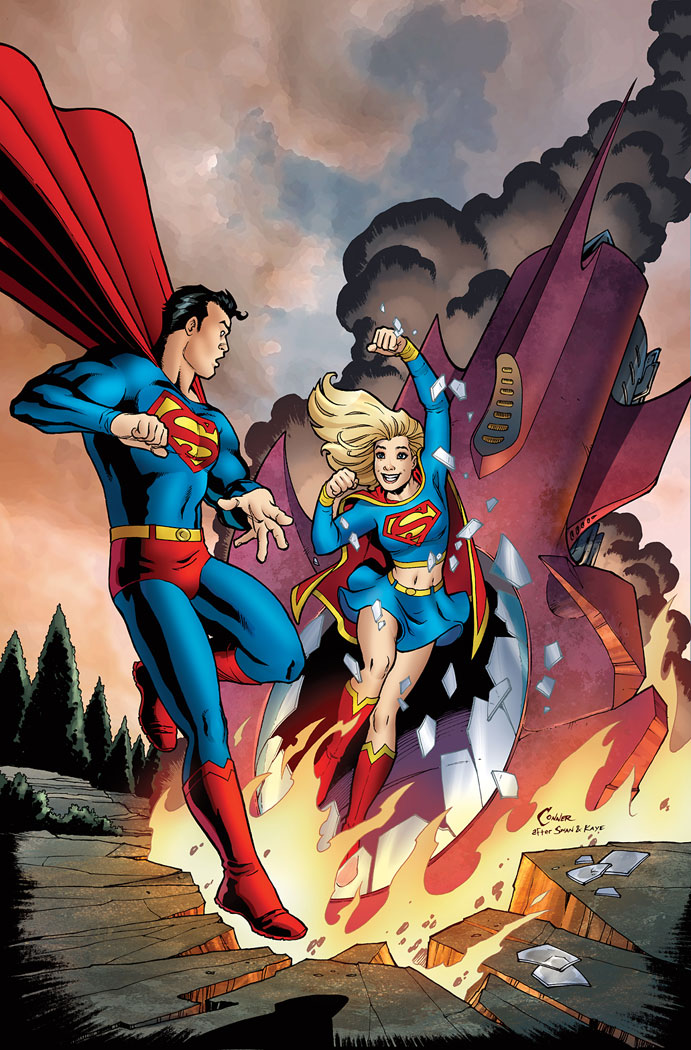 superman meeting supergirl for the first time superman meeting supergirl for the first time