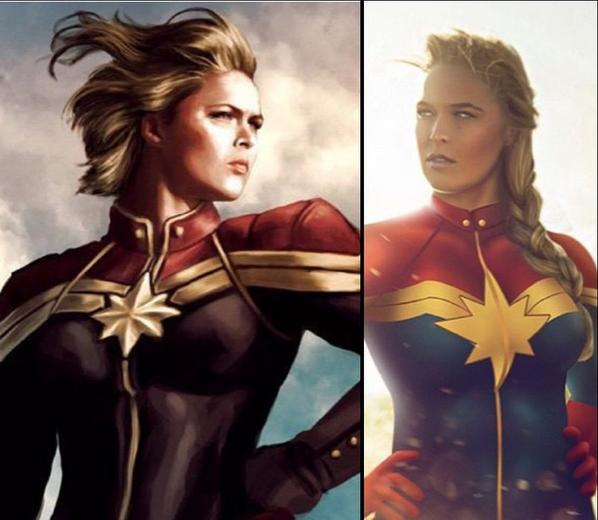 Ronda Rousey as Captain Marvel Ronda Rousey as Captain Marvel
