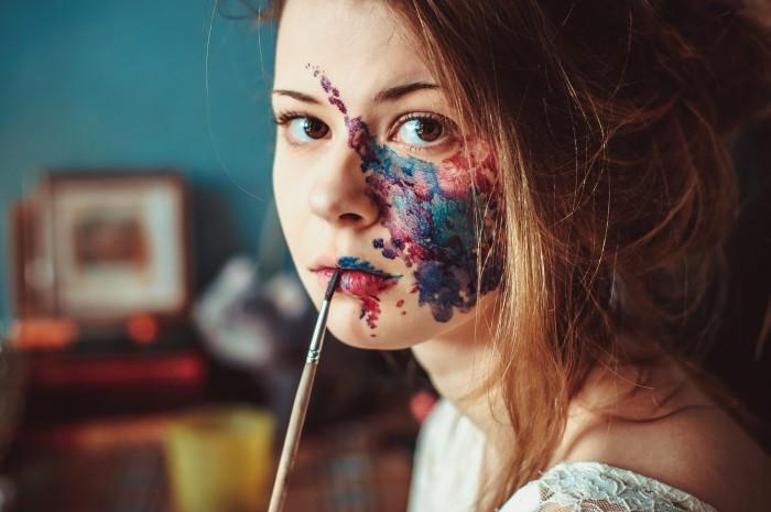 she got art on her face.jpg