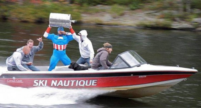 Ski Nautique Drunk Captain America 700x377 Ski Nautique – Drunk Captain America