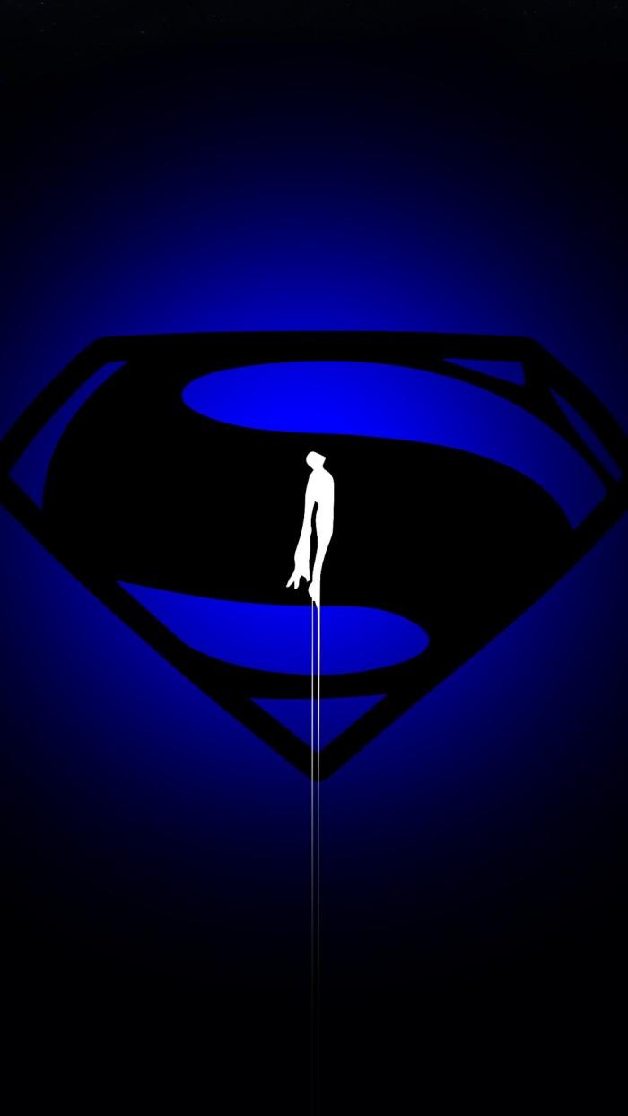 Superman in BLUE 700x1244 Superman in BLUE