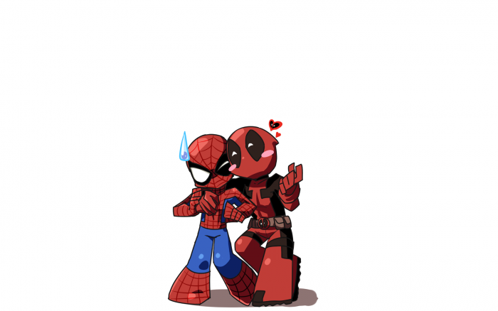 chibi spider-man and deadpool.png