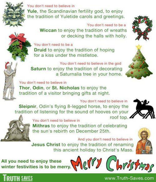 I don't believe in any of that stuff....except Thor maybe. Happy Yuletide.