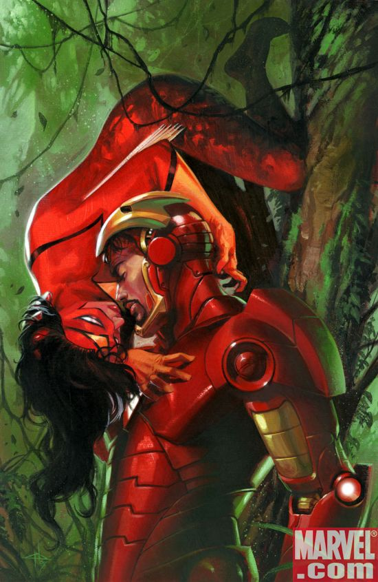 iron man kissin on Spider Woman iron man kissin on Spider Woman