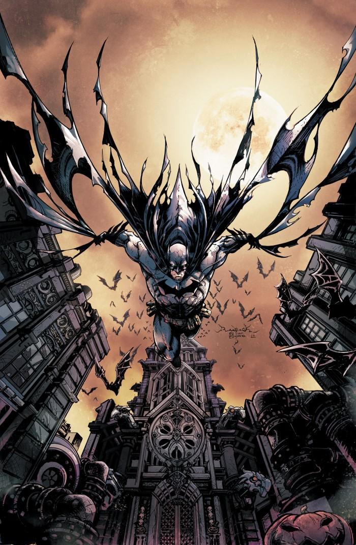 Batman with his pet bats 700x1072 Batman with his pet bats