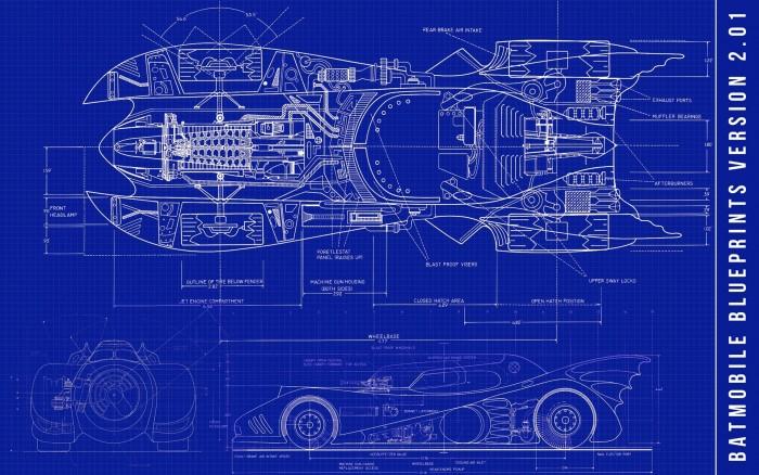 Batmobile Returns Blueprints 700x438 Batmobile Returns Blueprints