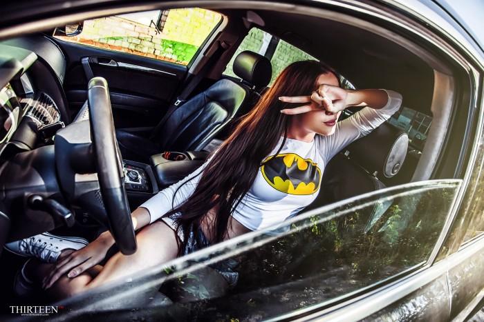 batgirl in a car 700x467 batgirl in a car