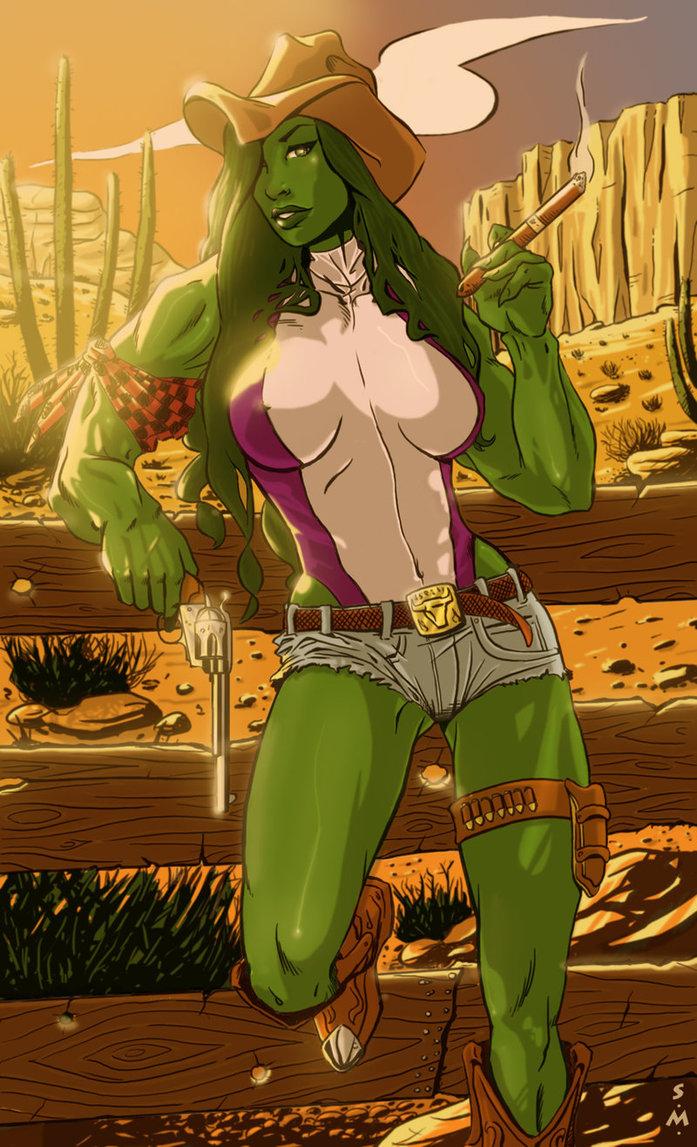 She Hulk is a cowgirl.jpg