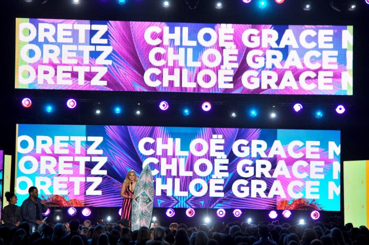 Chloe with her name in lights.jpg