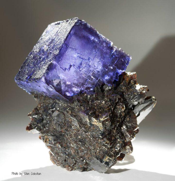 fluorite-on-sphalerite