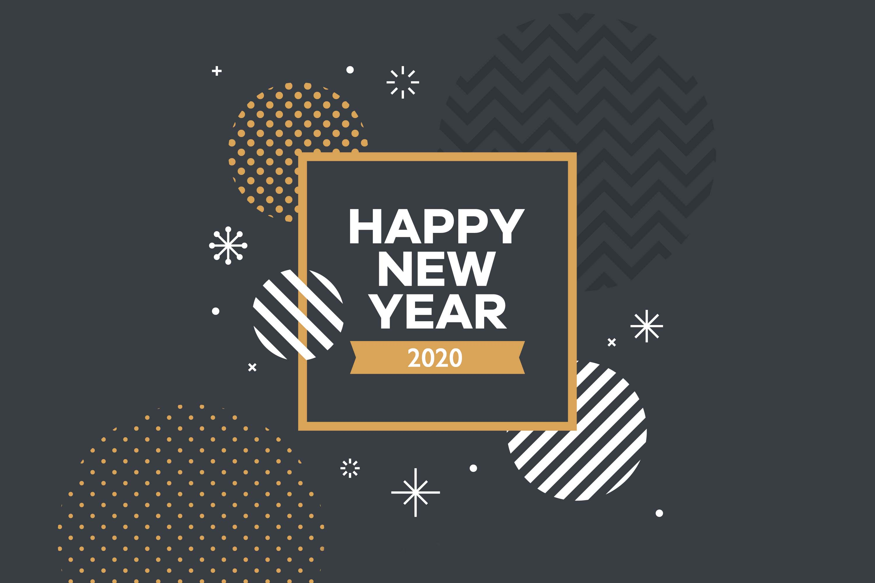 Professional Happy New Year 2020 Wallpaper