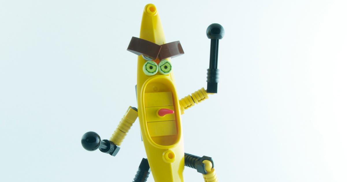 Boisterous banana gone bonkers  The Brothers Brick