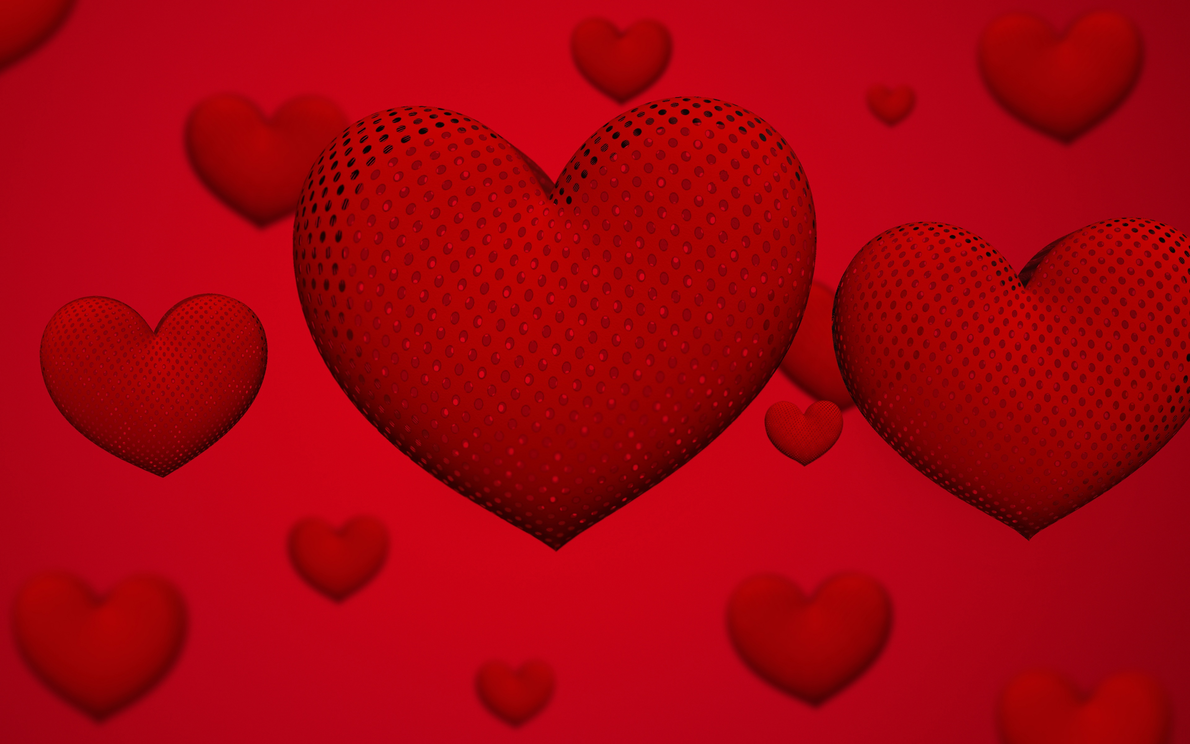 Red Floating Hearts
