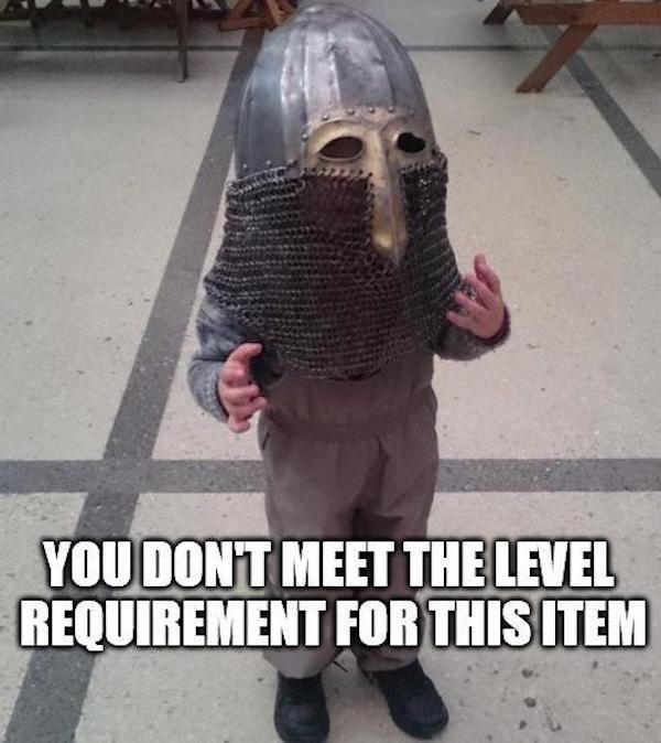 level requirements not met
