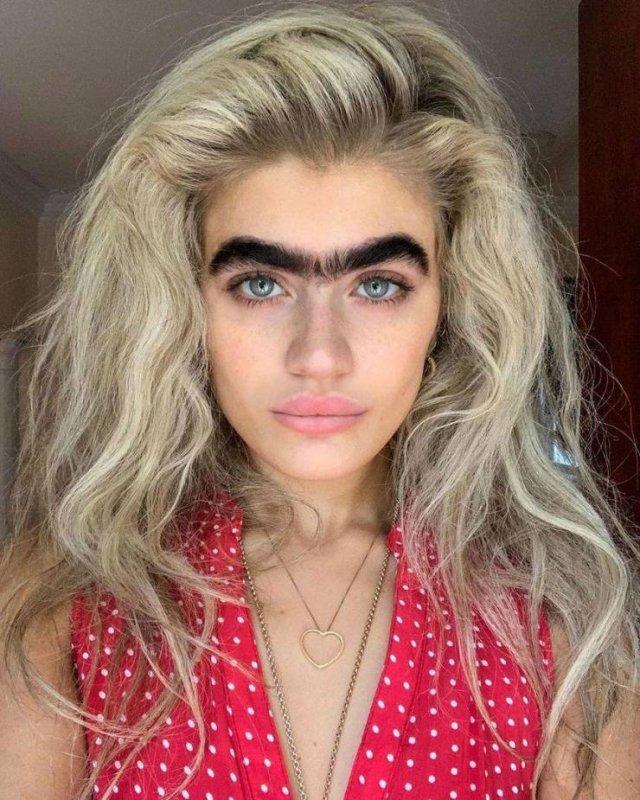 one brow