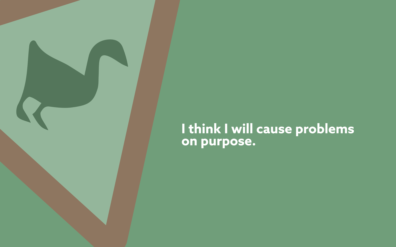 problems on purpose