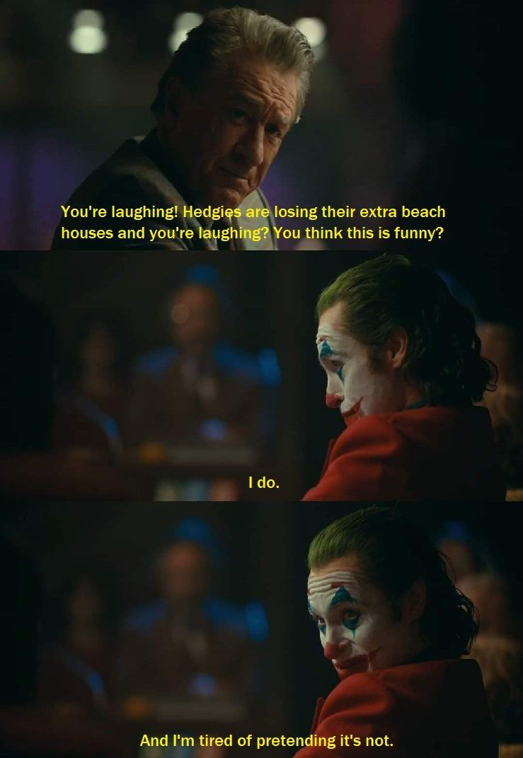 you're laughing