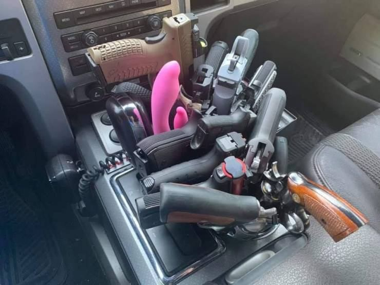 weapons in car