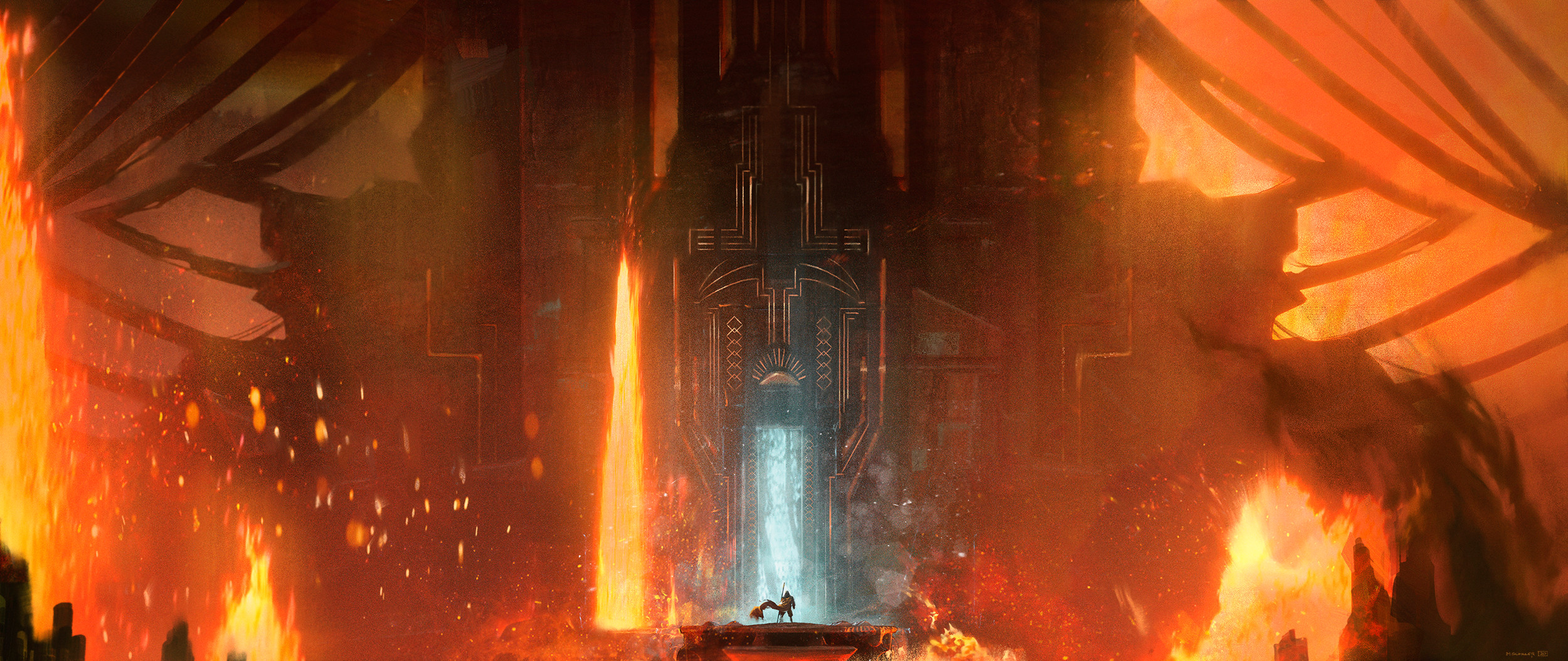 Fire Temple by Max Schiller