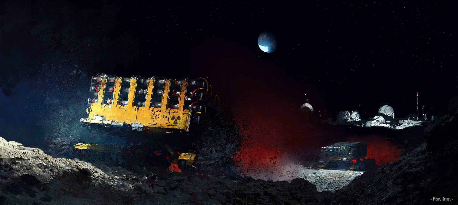 The Dark Wastes of the Moon by Pierre Demet