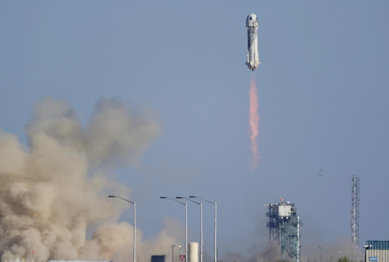 William Shatner TV's Capt Kirk blasts into space