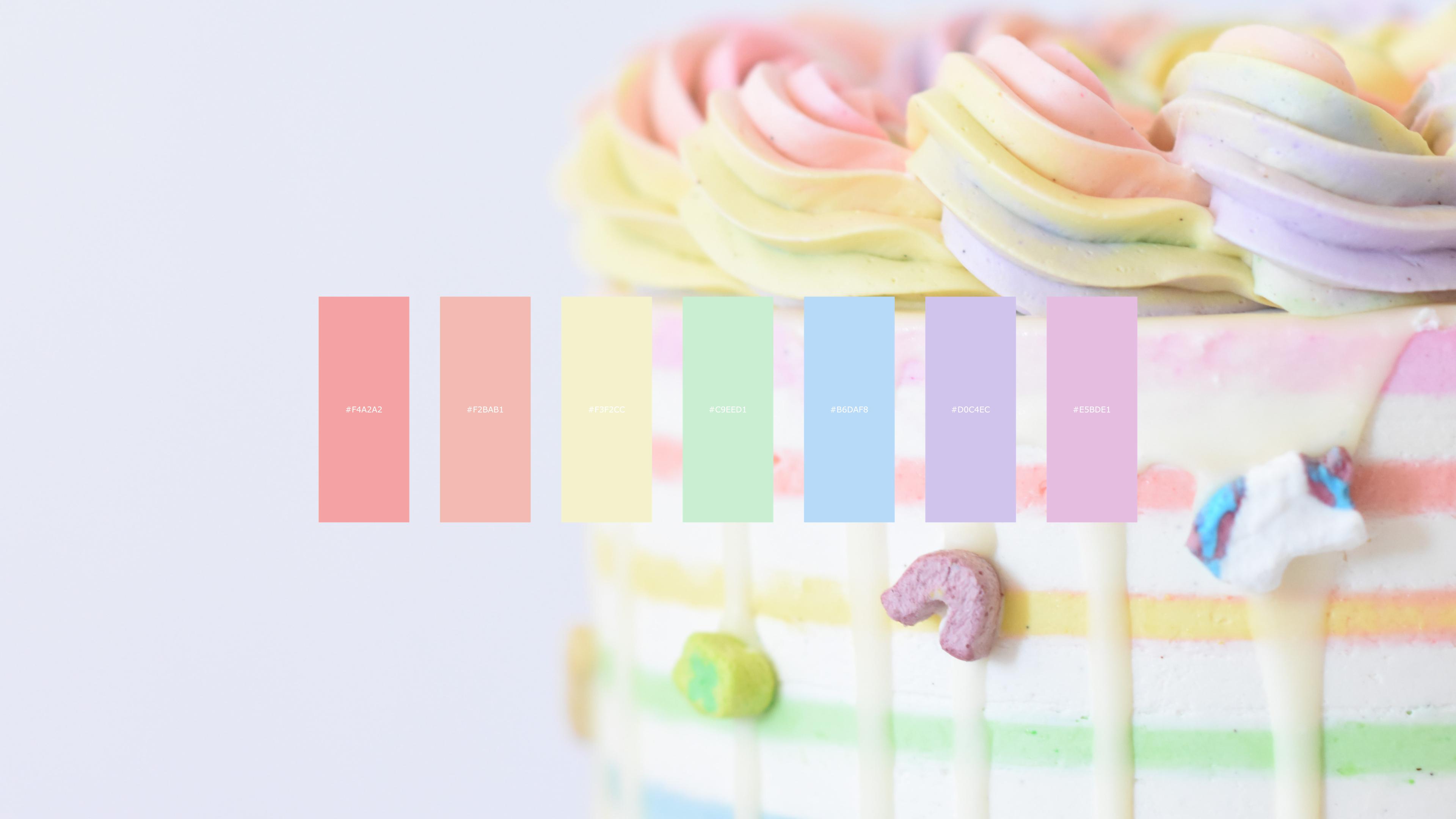 Cake color palette