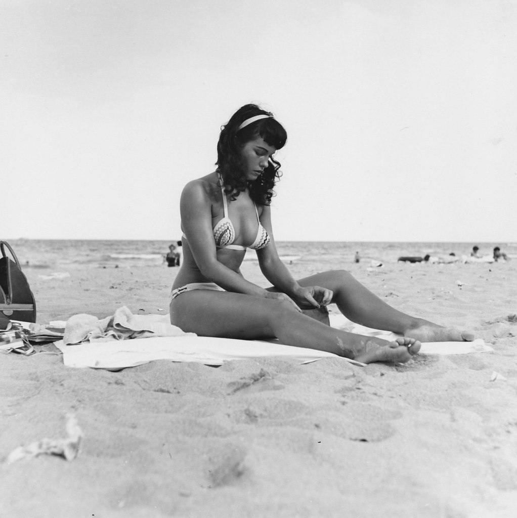 Bettie Page at the beach 1954