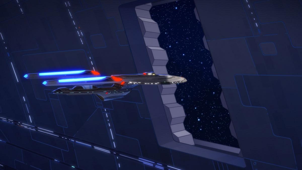 Leaving Space Dock