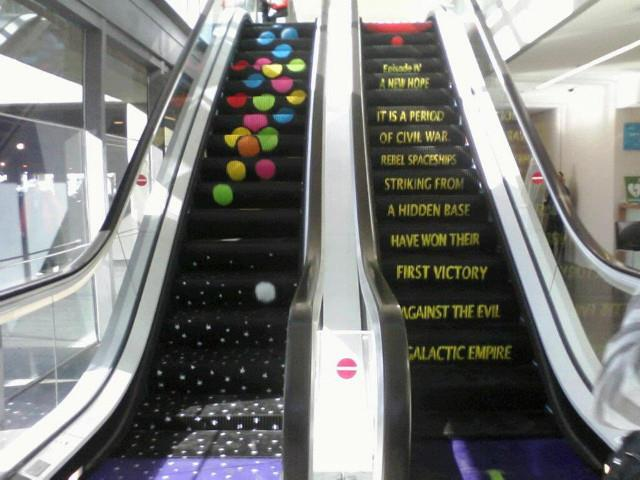 escalator Scrolling Text